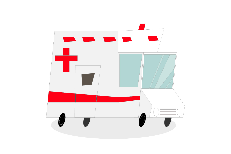 Ambulance car line vector example image 1