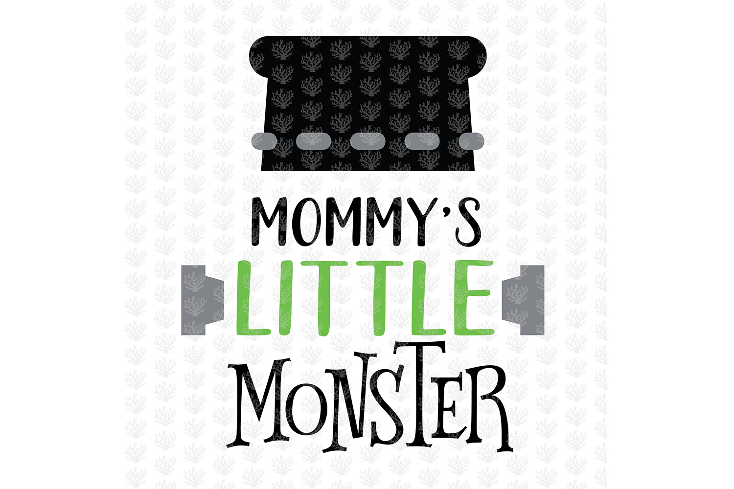 Mommy Little Monster - Halloween SVG EPS DXF PNG Cut File example image 3