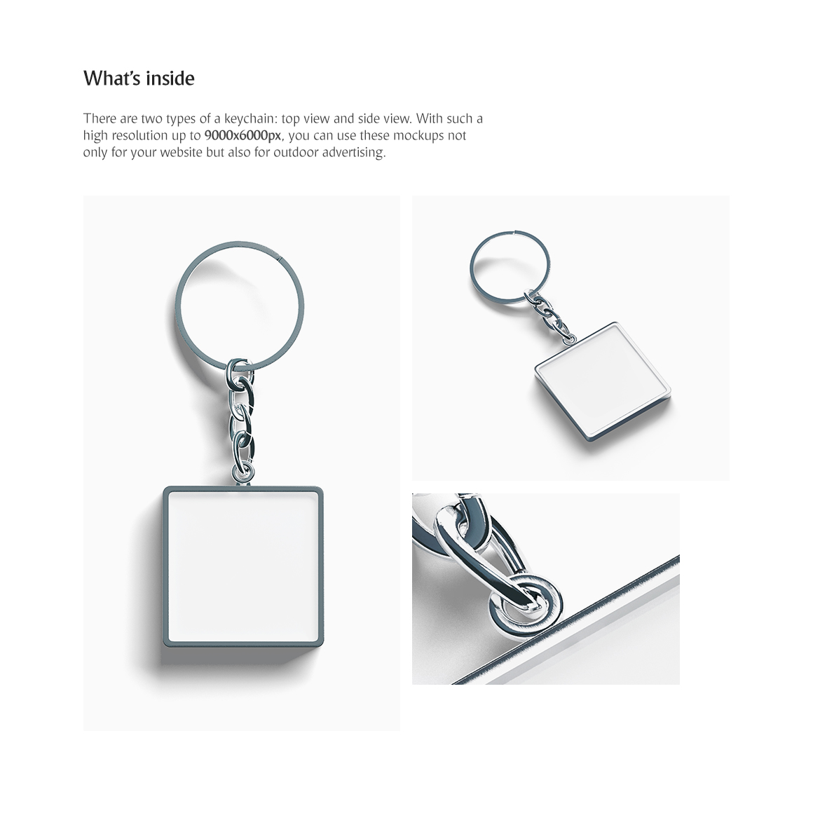 Square Keychain Mockup example image 2