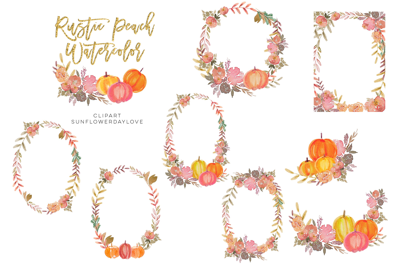 Thanksgiving Pumpkin PNG Clipart, peach pumpkin example image 3