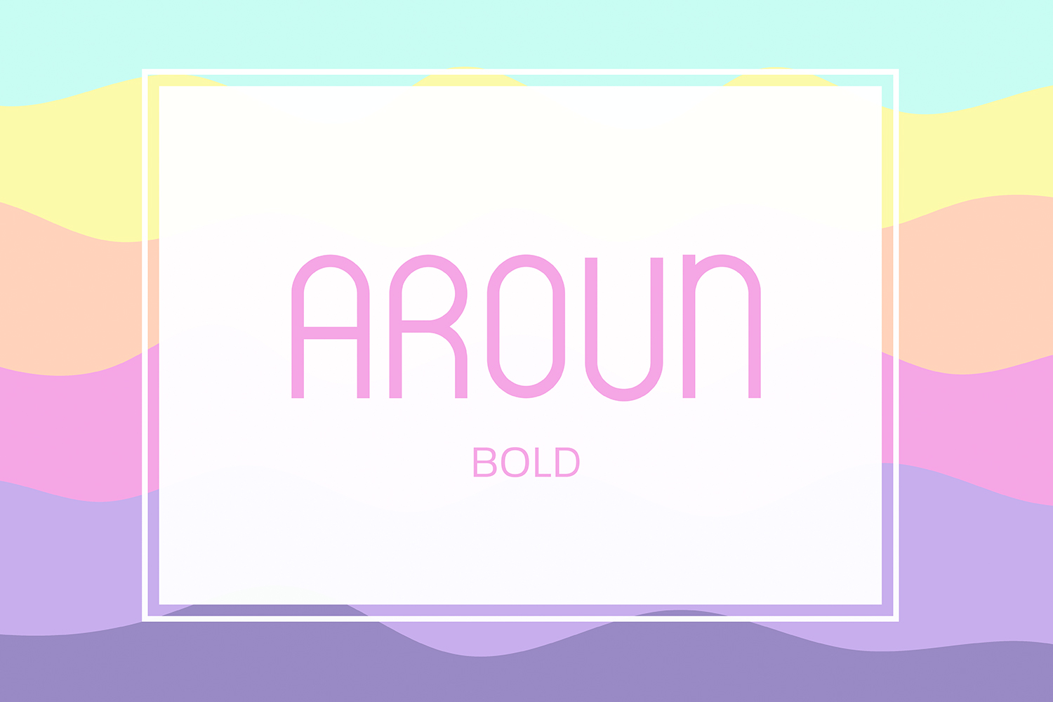 Aroun|All Caps Typeface| 5 Styles Included example image 3