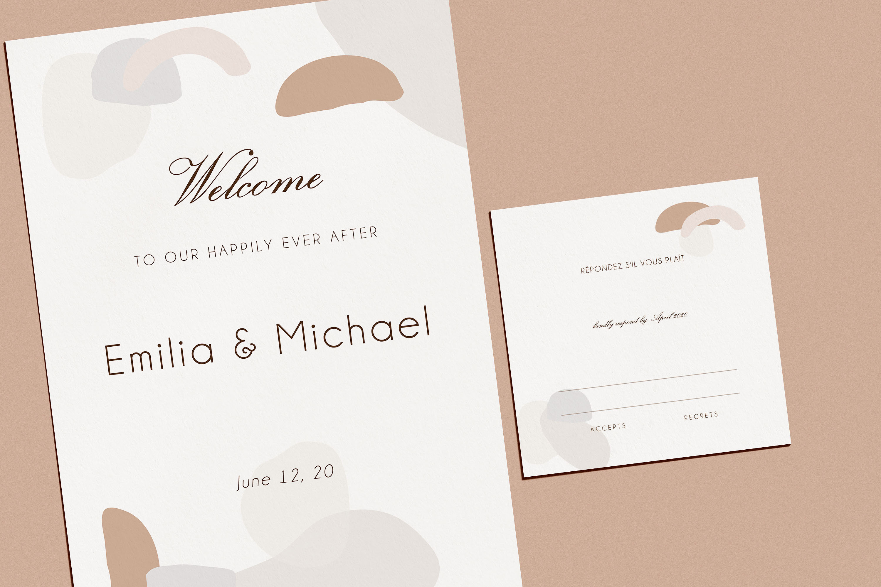 Abstract style Wedding Invitation Suite example image 3