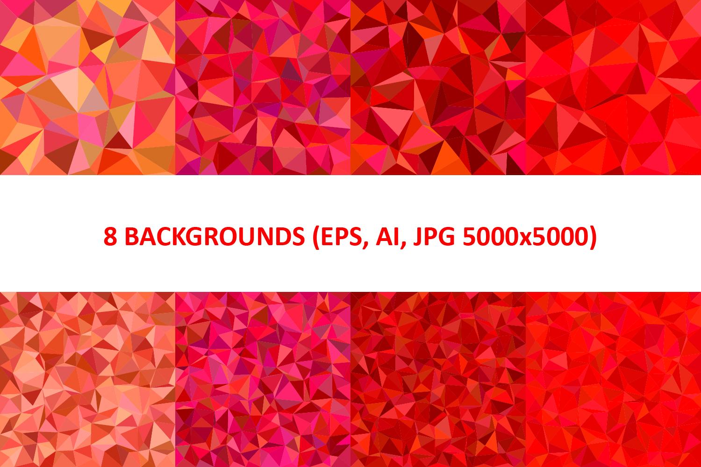 48 Triangle Backgrounds AI, EPS, JPG 5000x5000 example image 7