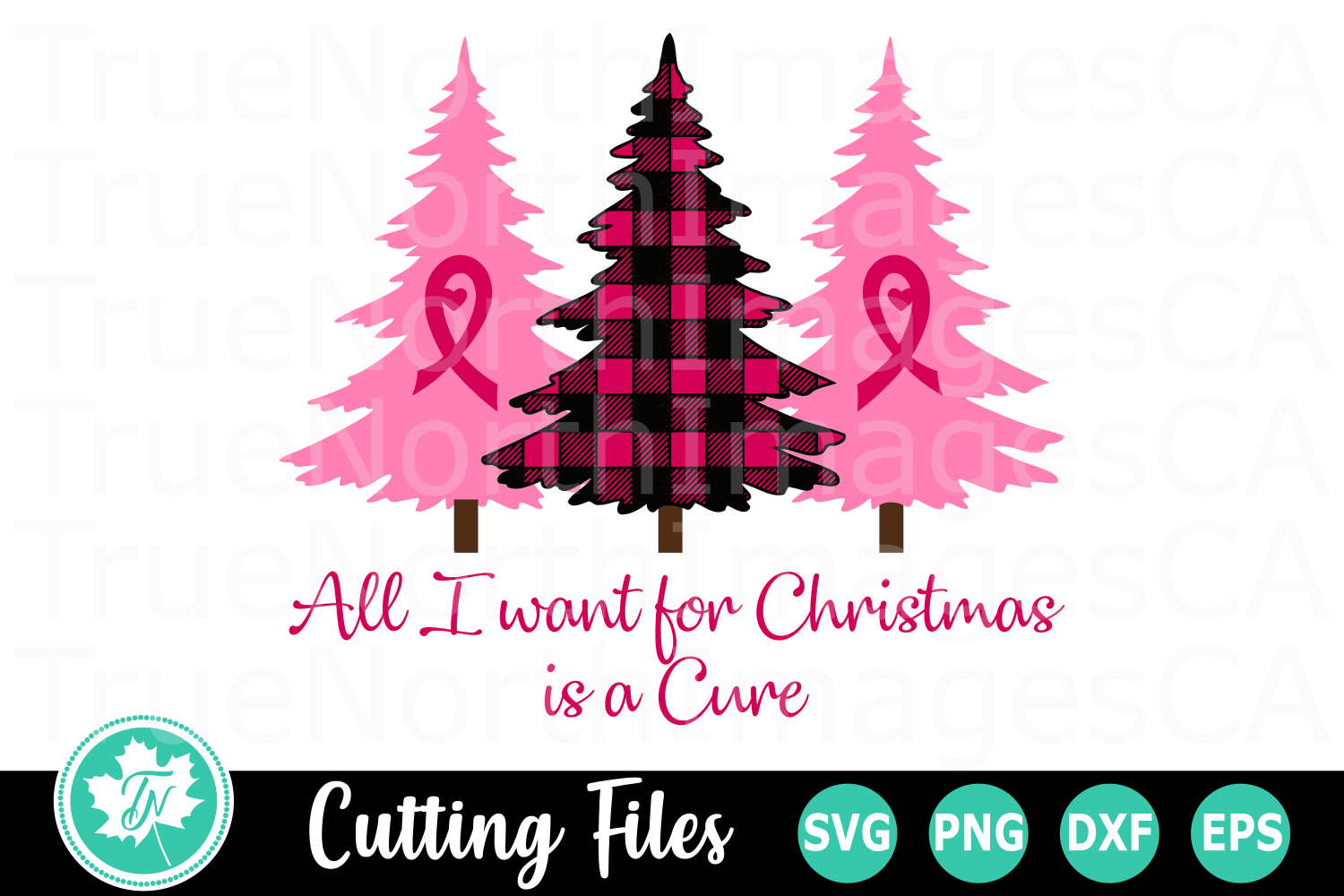 All I Want for Christmas is a Cure - A Christmas SVG File example image 1