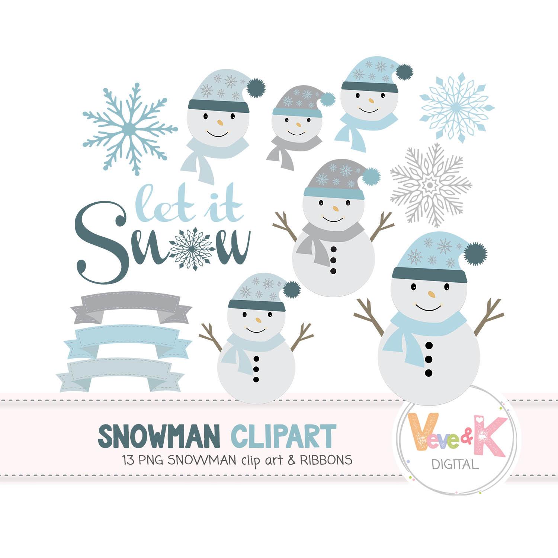 Cute Snowmen, Snowman Clipart, Christmas Winter Clipart ...