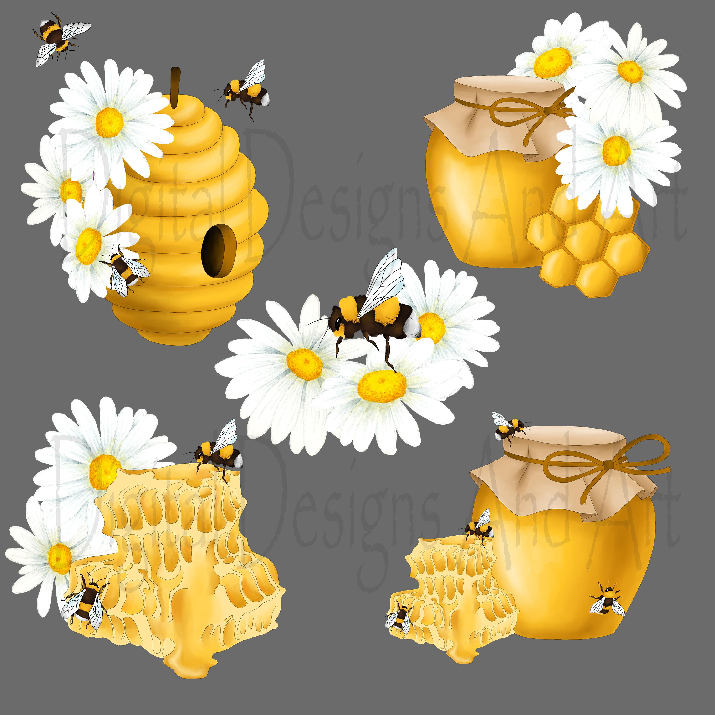 Honey bee clipart example image 5
