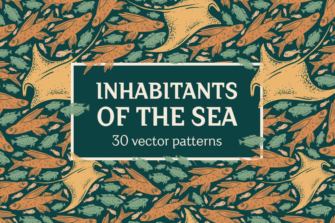 Inhabitants of the sea patterns example image 15
