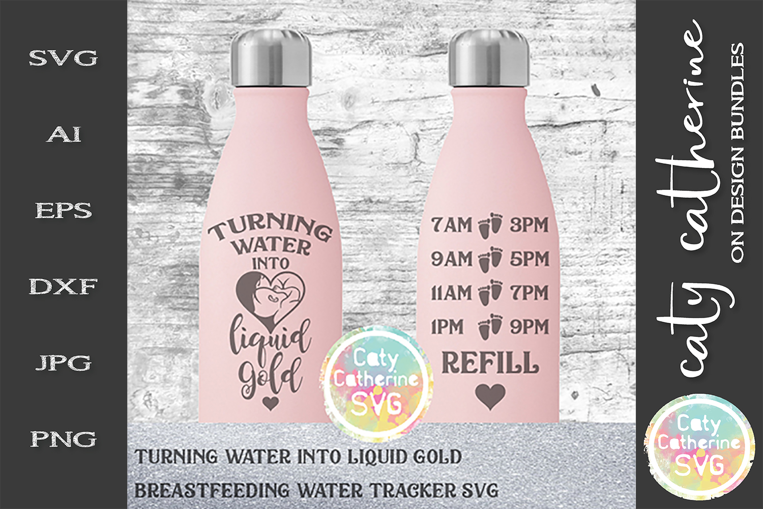 Turning Water Into Liquid Gold Breastfeeding Water Tracker example image 1