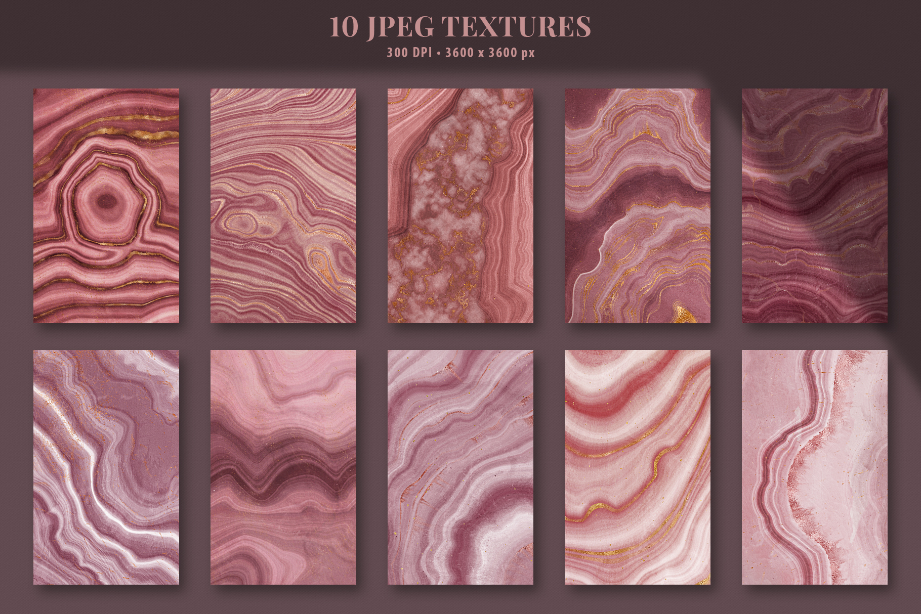 Pink Agate Illustrations, Textures & Patterns example image 2