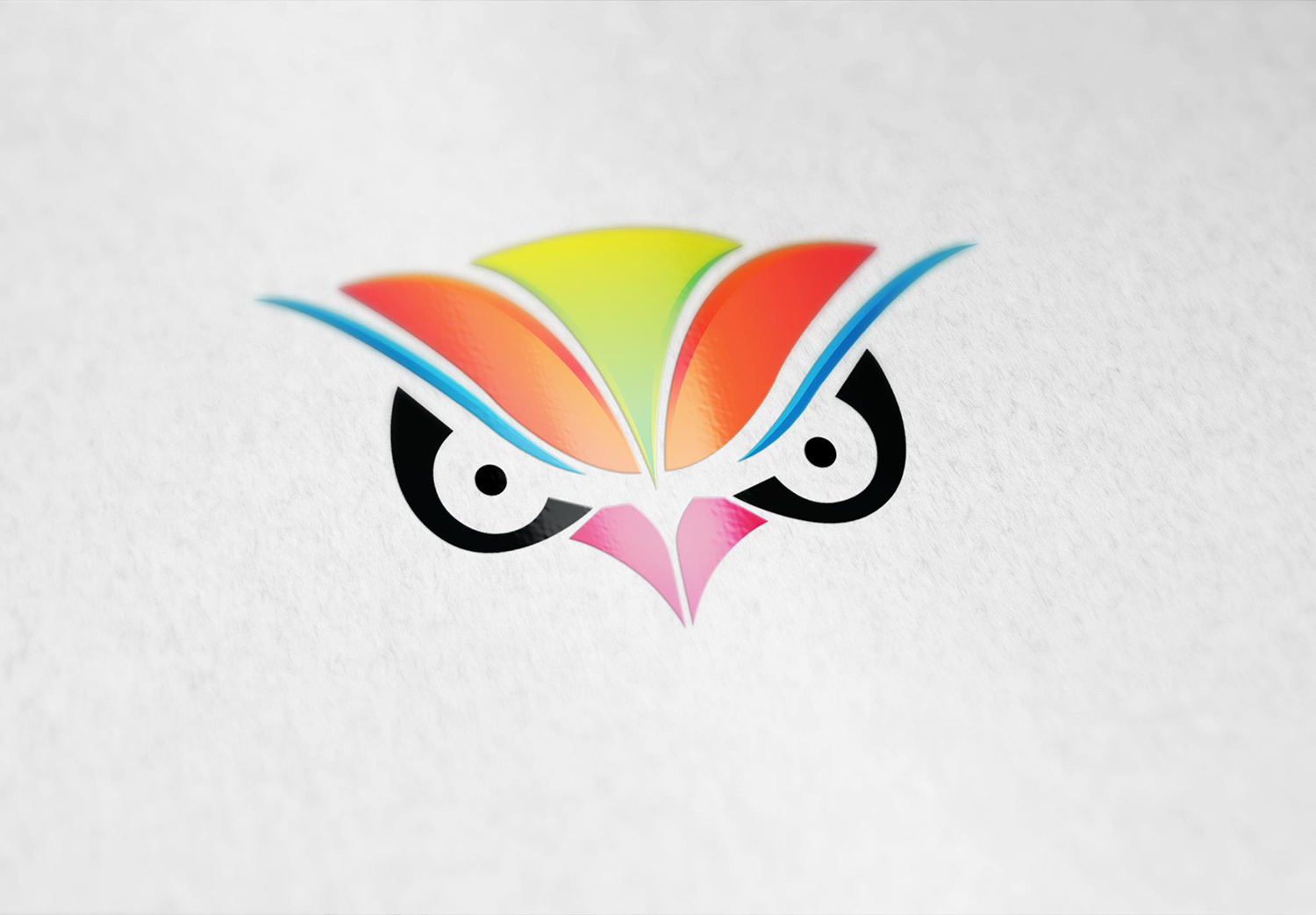 Owl Face Logo Template example image 2