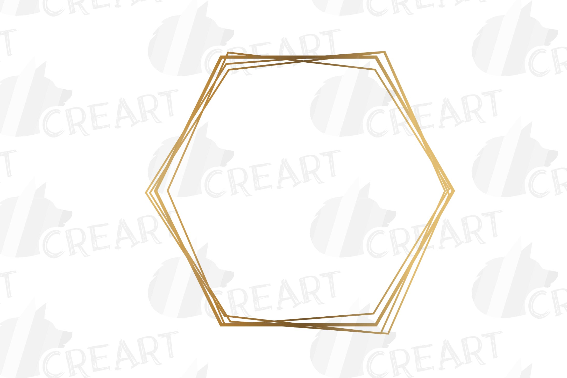 Elegant wedding geometric golden frames, lineal frames svg example image 25