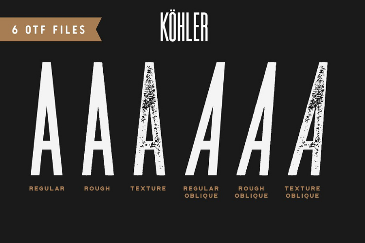 Köhler | Ultra Condensed Family - Font Family example image 4