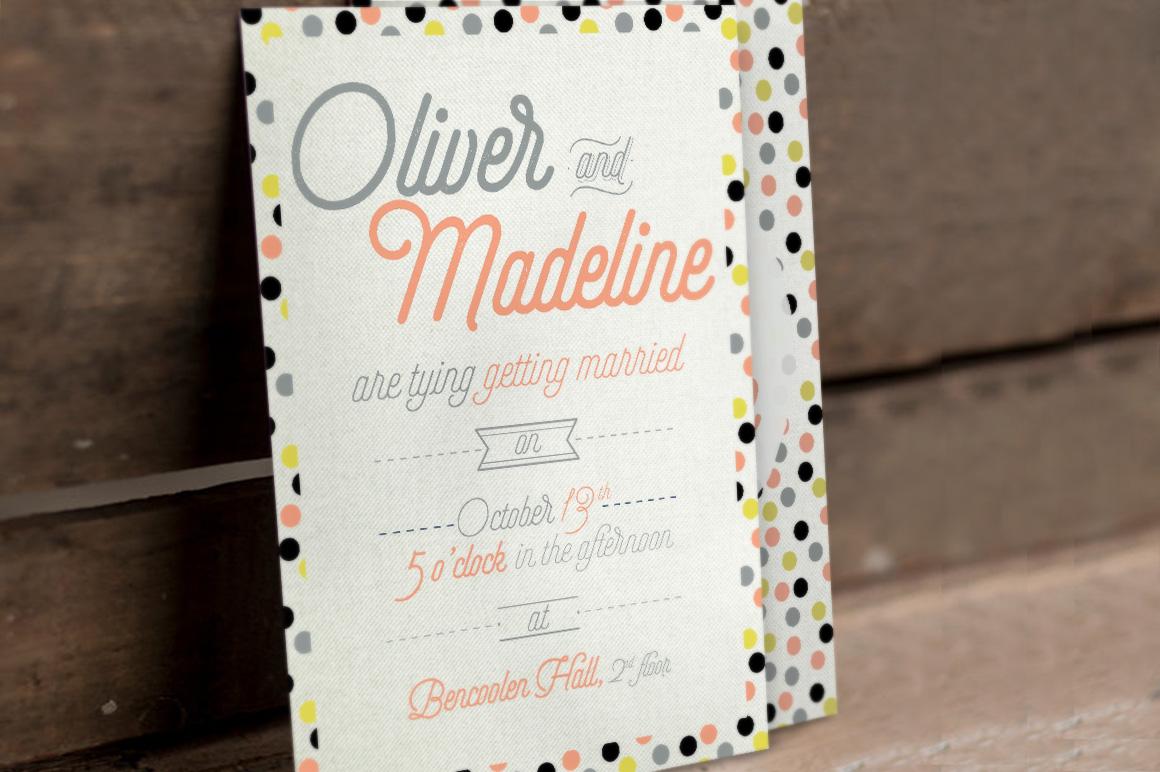 Fun Pattern Wedding Invitation example image 1