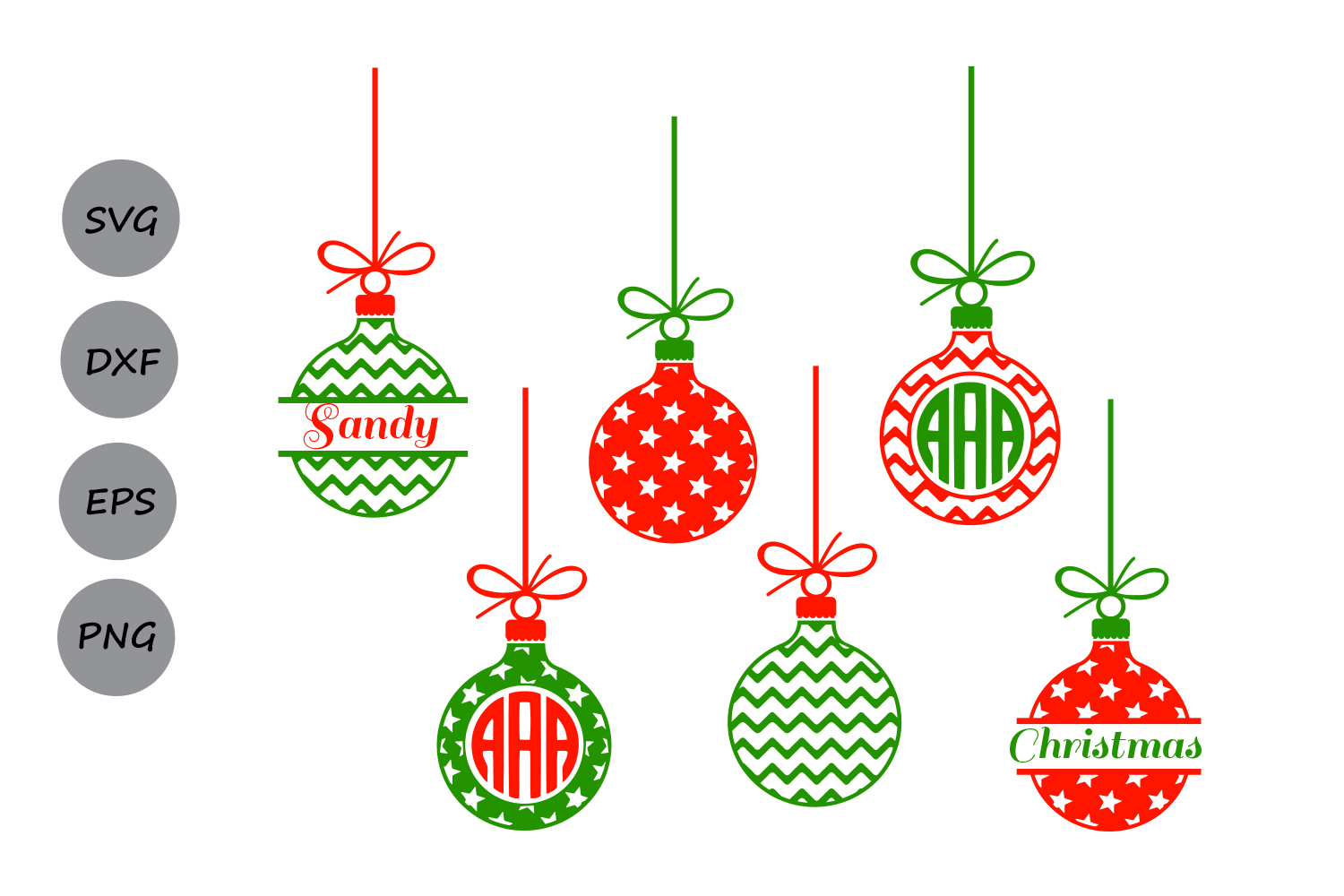 Download Christmas svg ornaments, christmas ornaments monogram ...