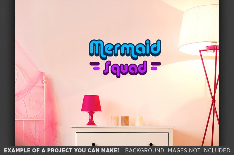 Mermaid Squad SVG File - Mermaid SVG File - 1063 example image 2