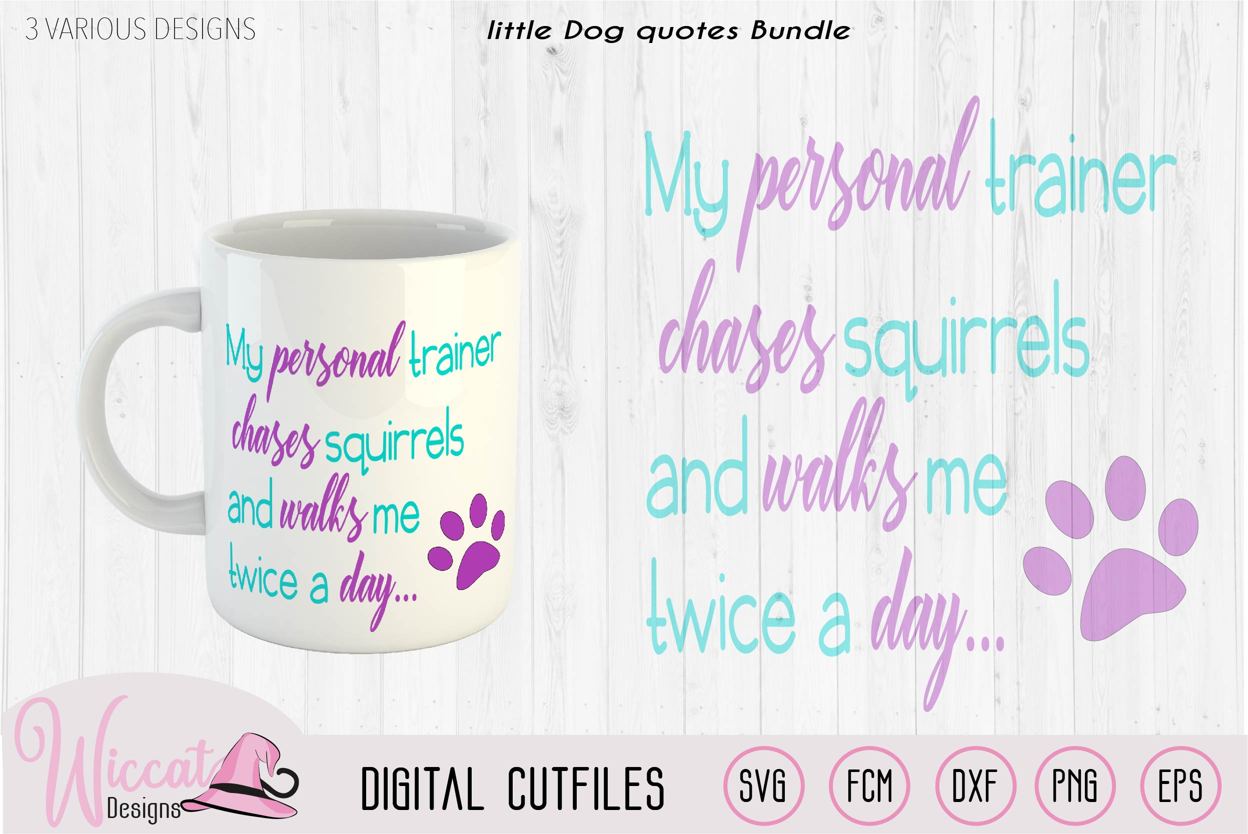 Dog quotes Bundle, Dog trainer, coffee and dog hair example image 2