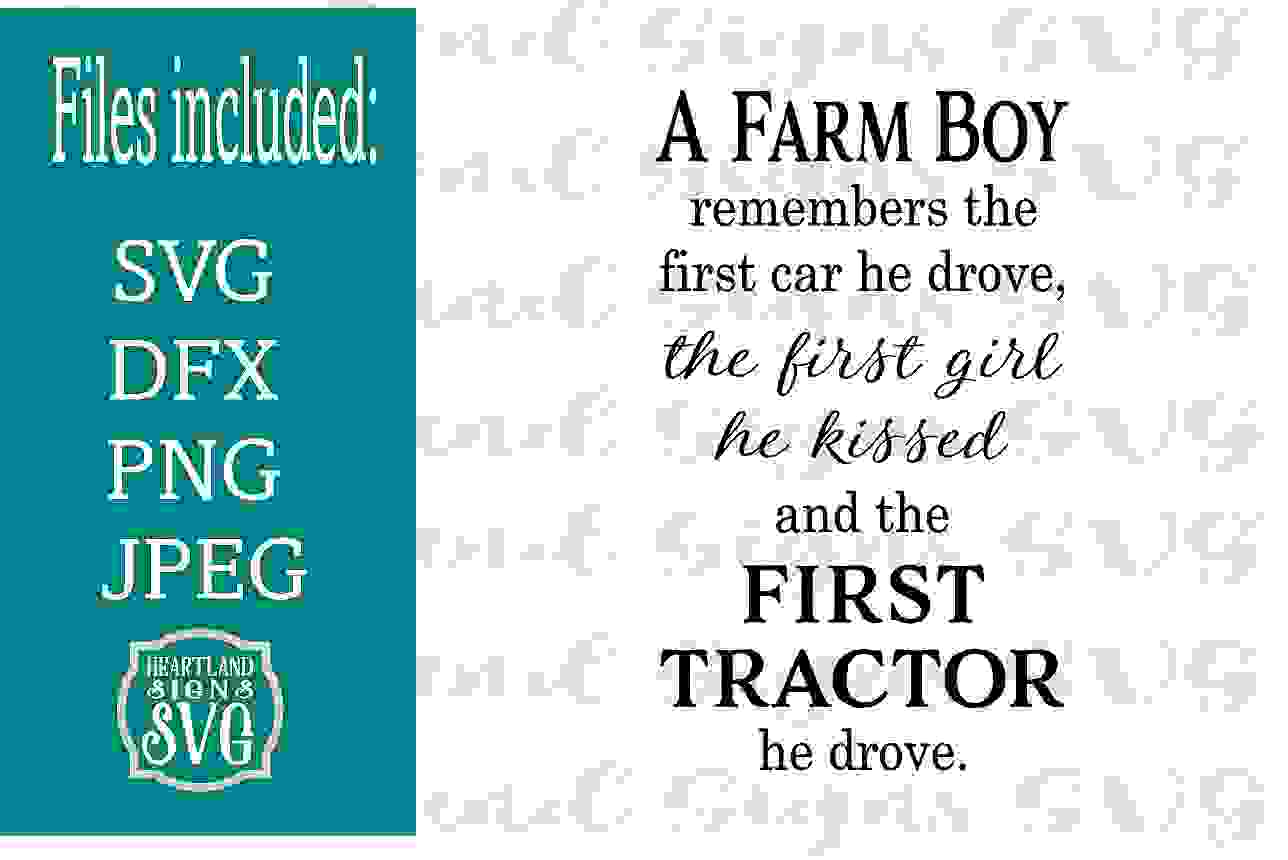 A Farm Boy First Tractor SVG example image 1