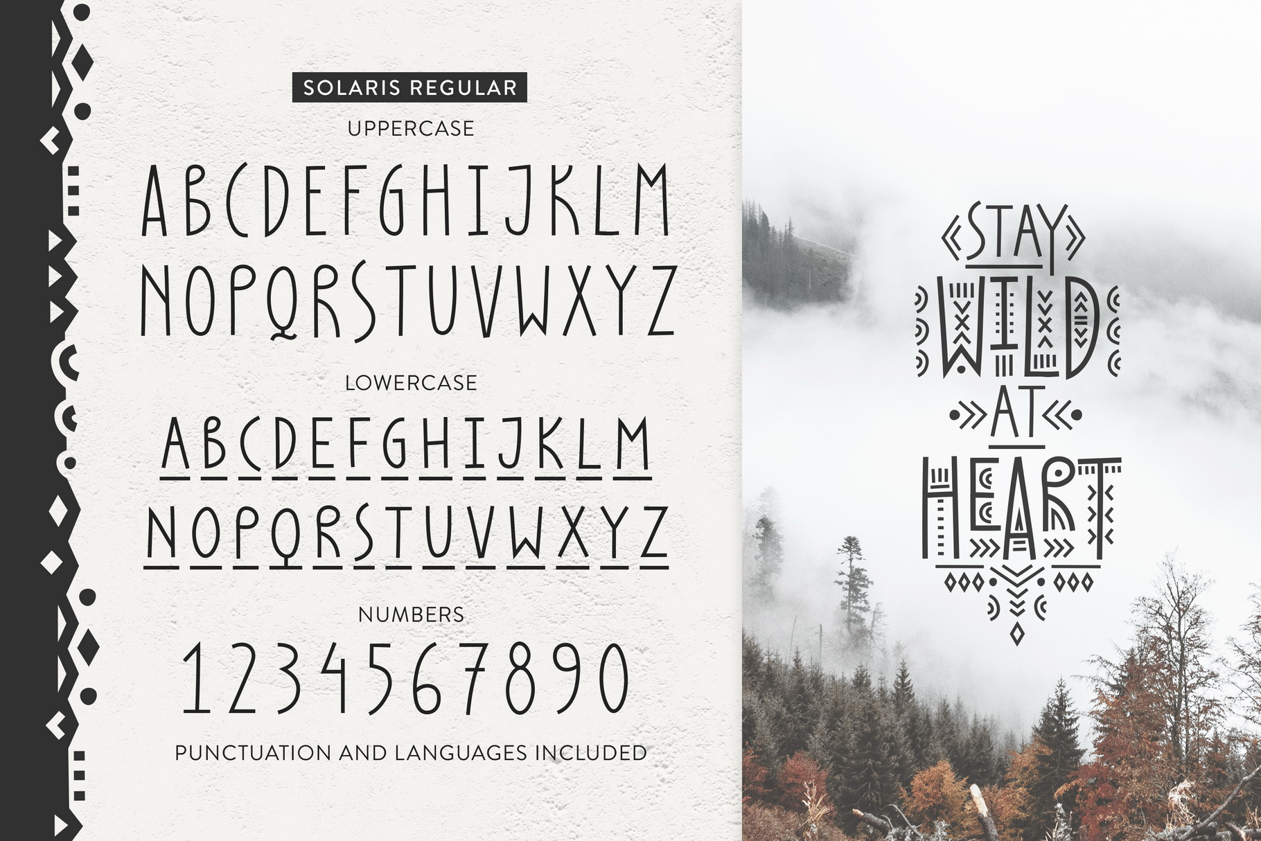 Thin Line Font Bundle 6 in 1 example image 8