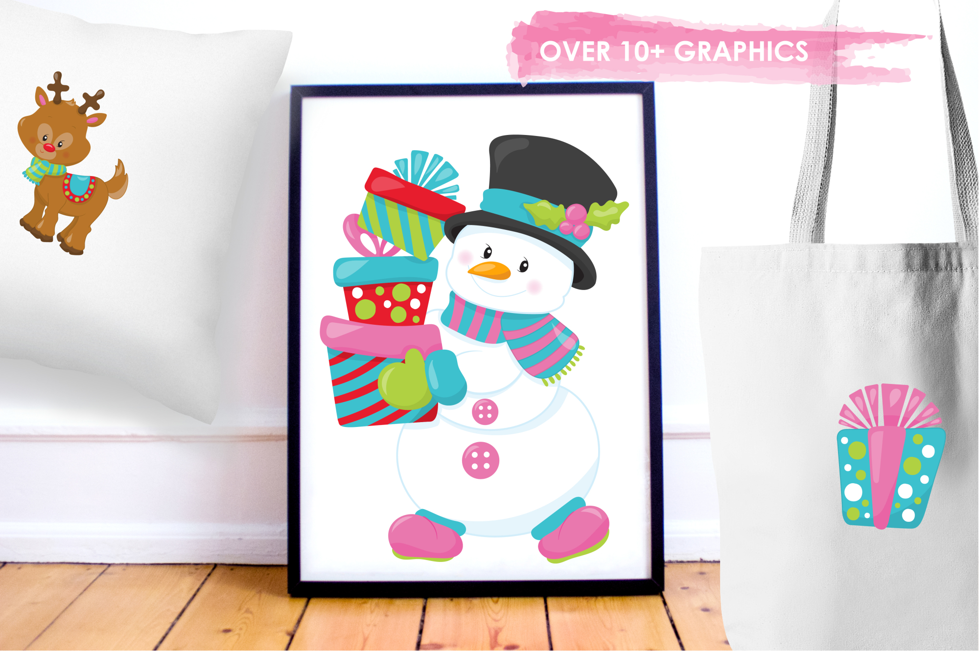 Christmas Friends graphics and illustrations example image 5
