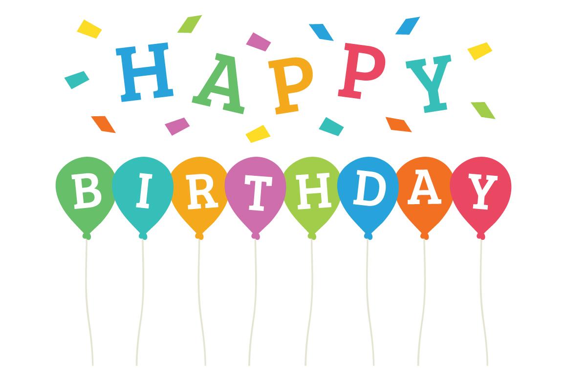 Happy Birthday Party Clip Art Set example image 8