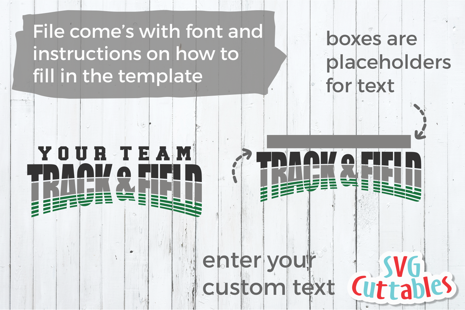 Track and Field Template 004 | SVG Cut File example image 2