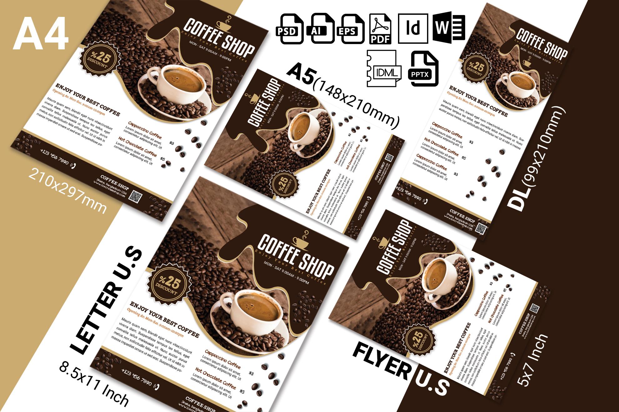 Coffee Shop Flyer Vol-03 example image 2