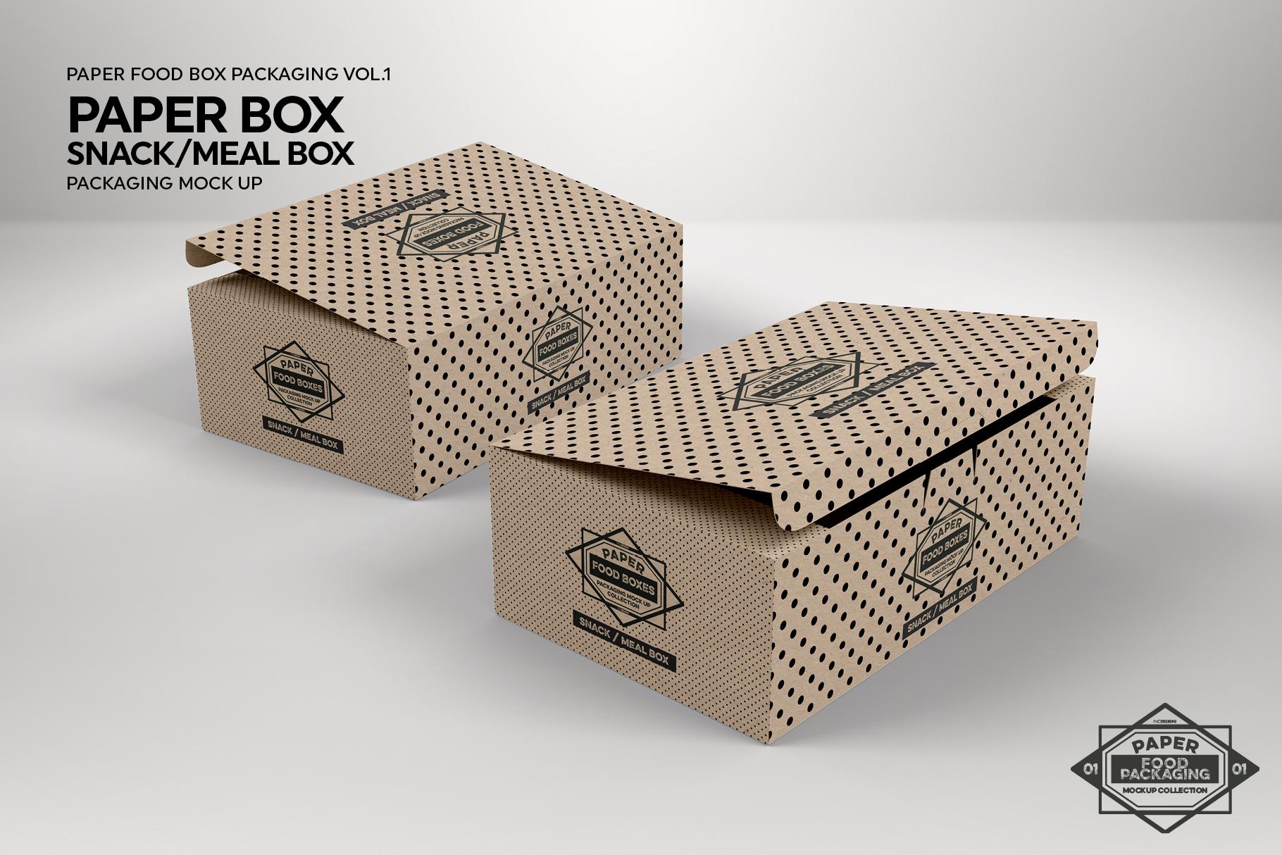 VOL.1 Food Box Packaging MockUps example image 18