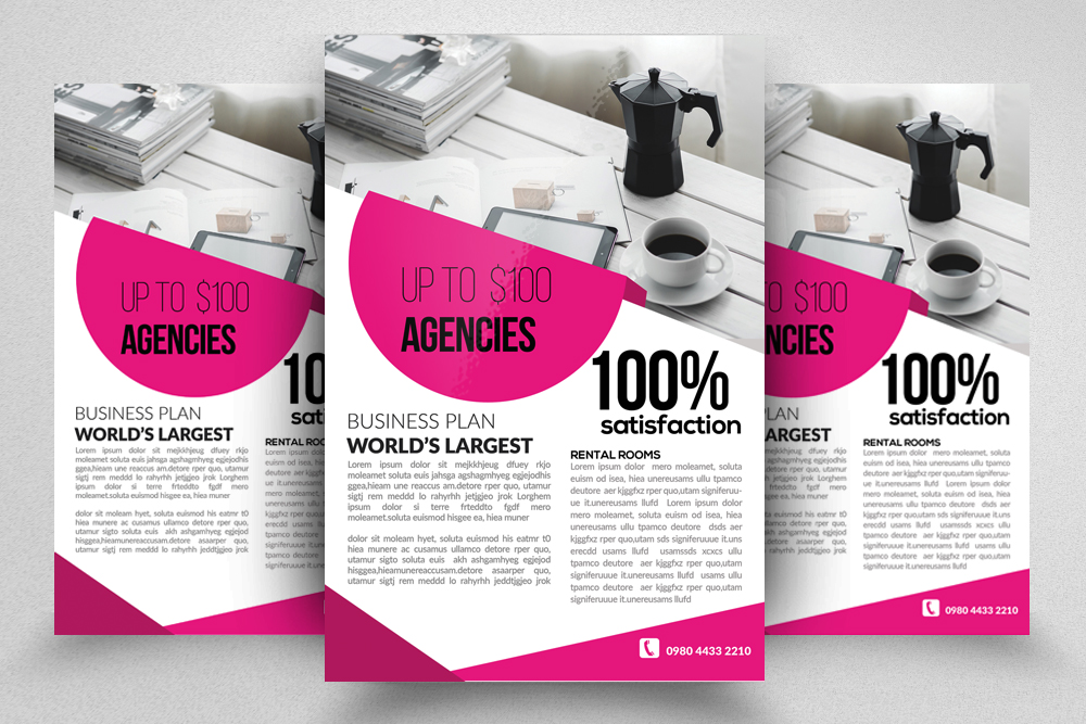 10 Corporate Psd Flyer Templates Bundle example image 10