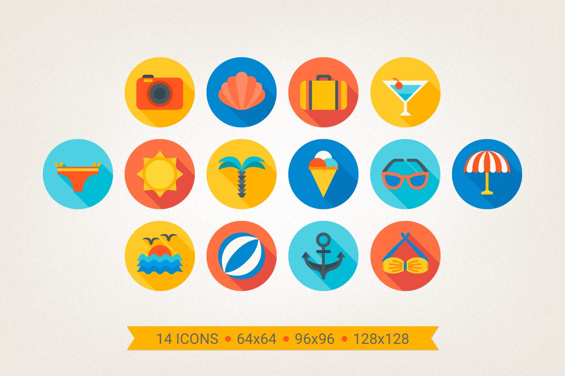 Round Travel Icons example image 2