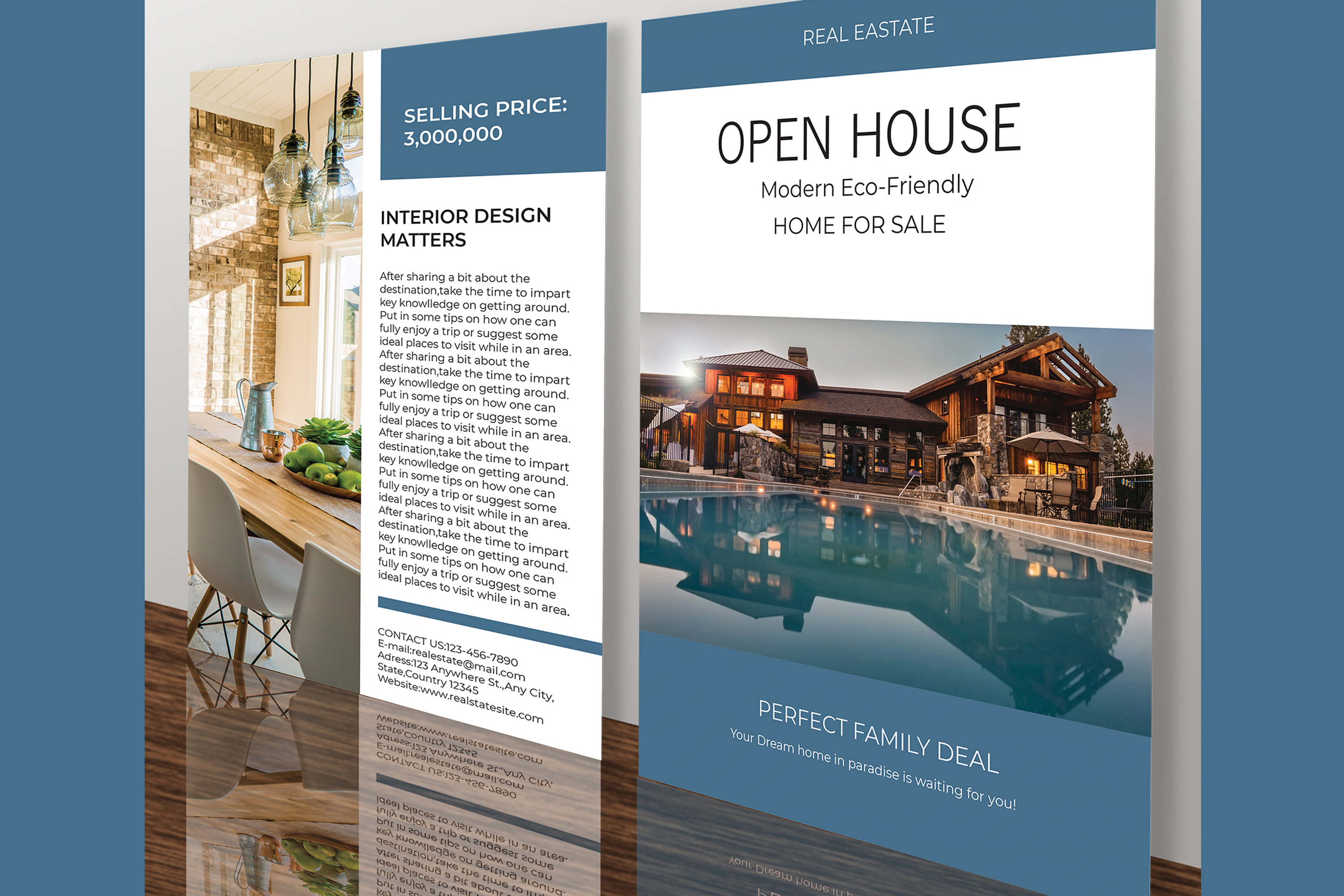 Professional Real Estate Flyer A4 - Printable Templates example image 13