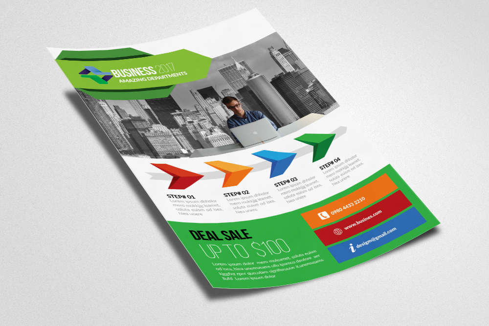 Marketing Consultant Flyer Templates example image 2