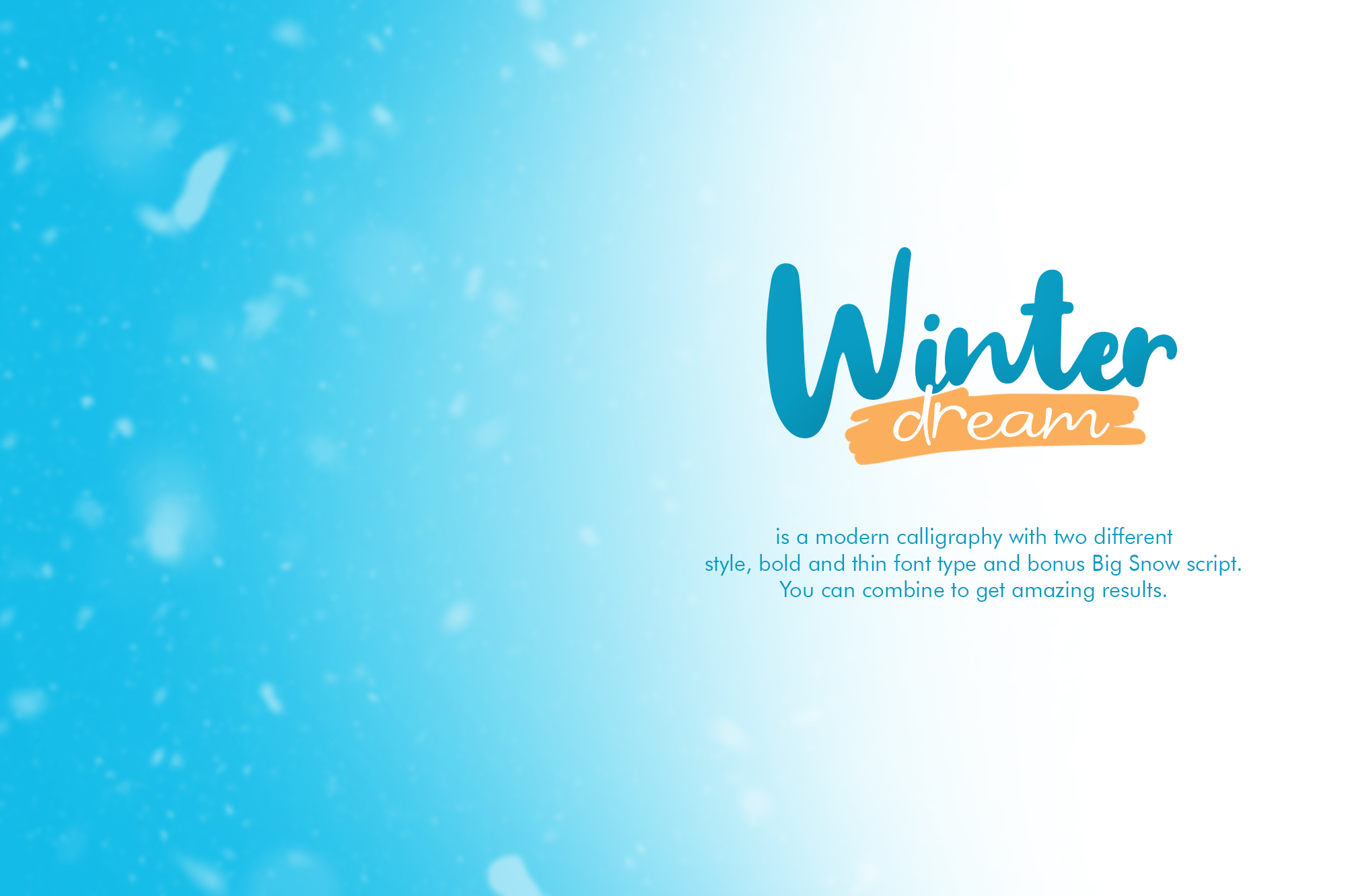 Winter Dream Trio Font example image 2
