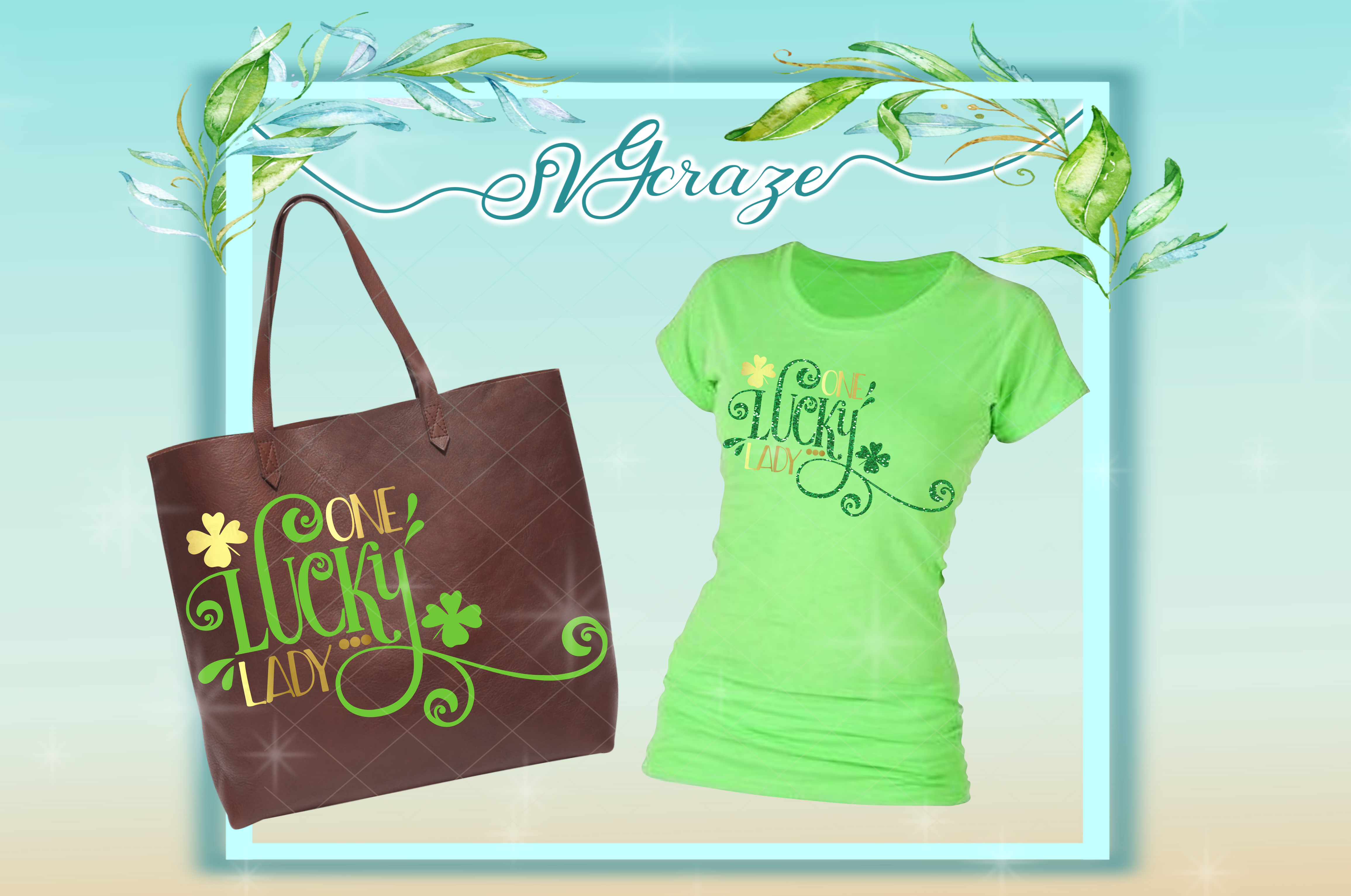 One Lucky Lady St Patricks Day SVG example image 2