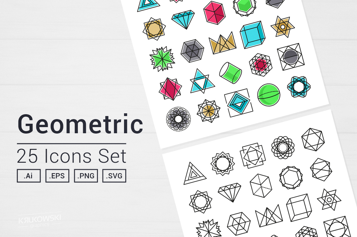 Geometric Icons Set example image 1