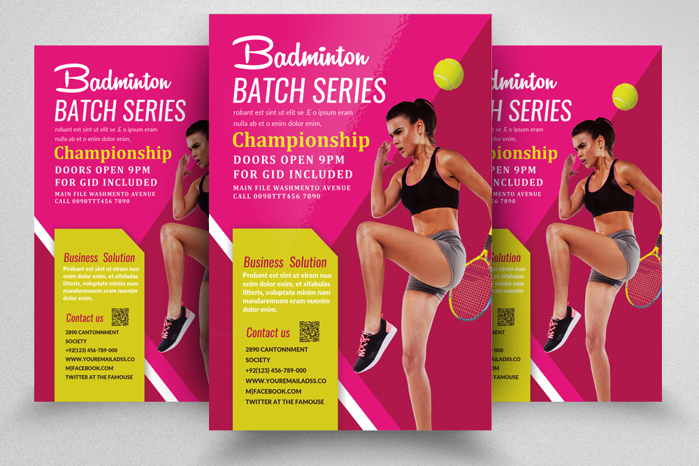 Badminton Competition Flyer/Poster example image 1