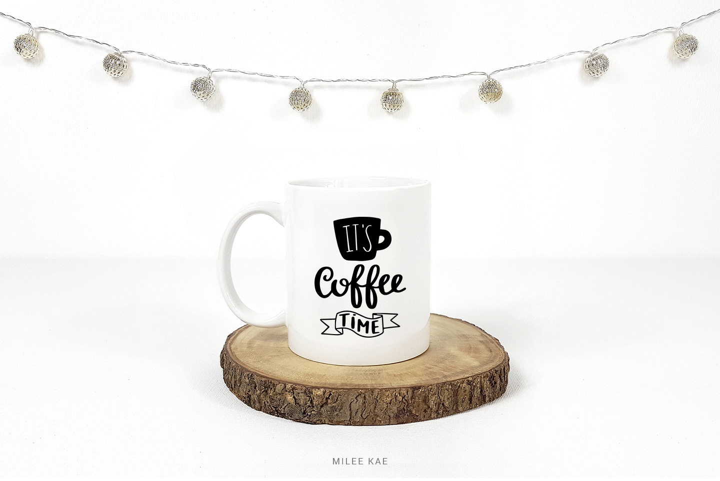 Coffee time SVG, Cutting file, Decal example image 2