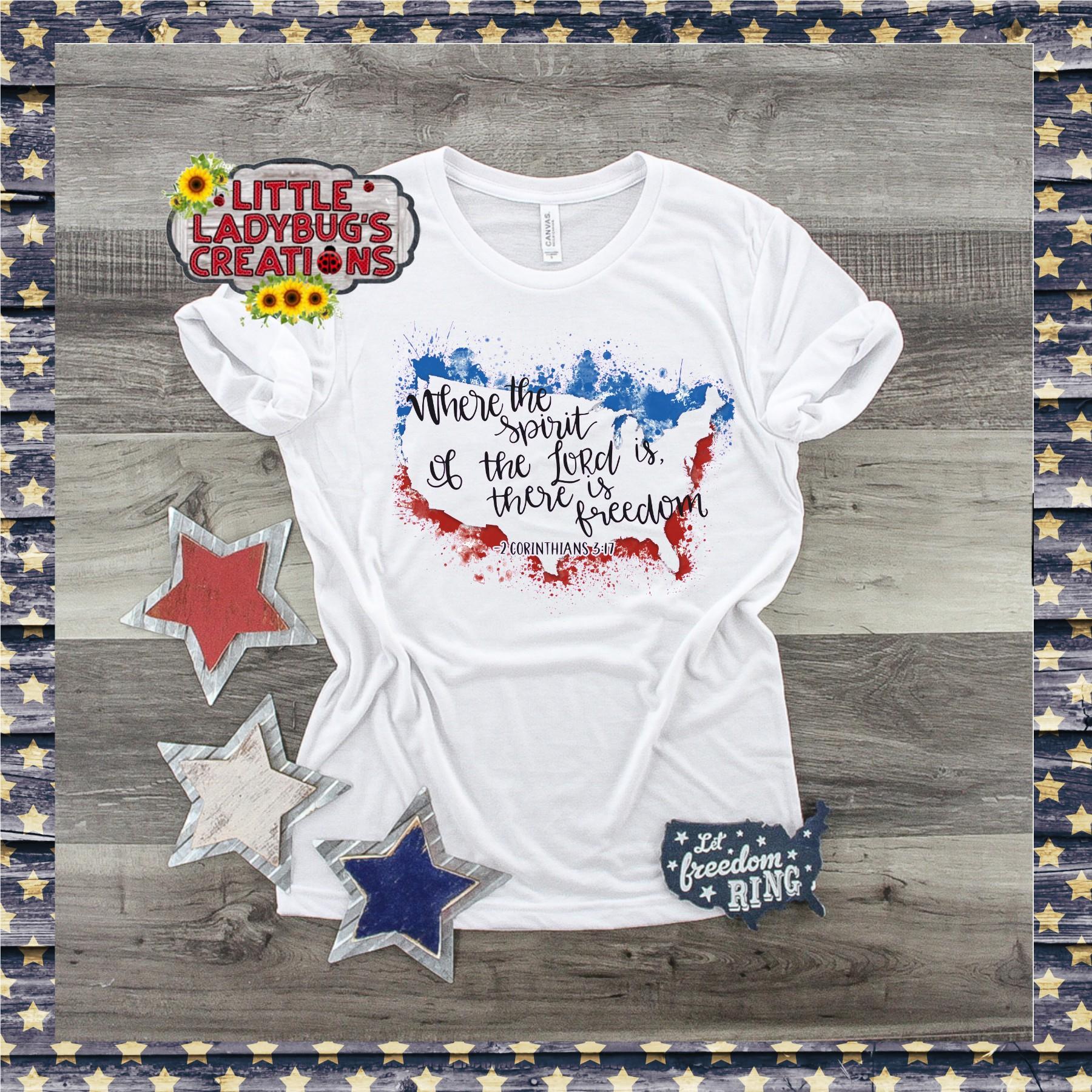 Freedom USA Splatter 300DPI PNG Printable Digital Design example image 3