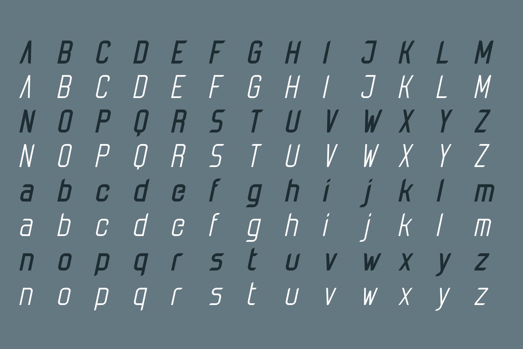 Tachyon Font - Condensed Sans Serif example image 7