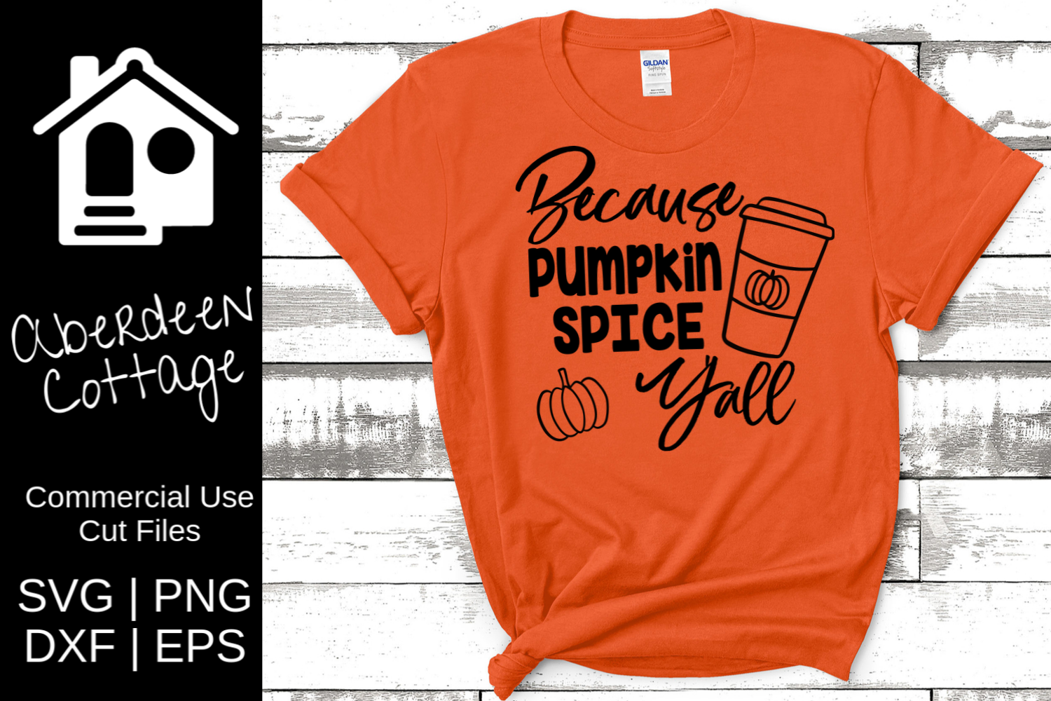 Because Pumpkin Spice Yall - Fall SVG | PNG | DXF | EPS example image 1