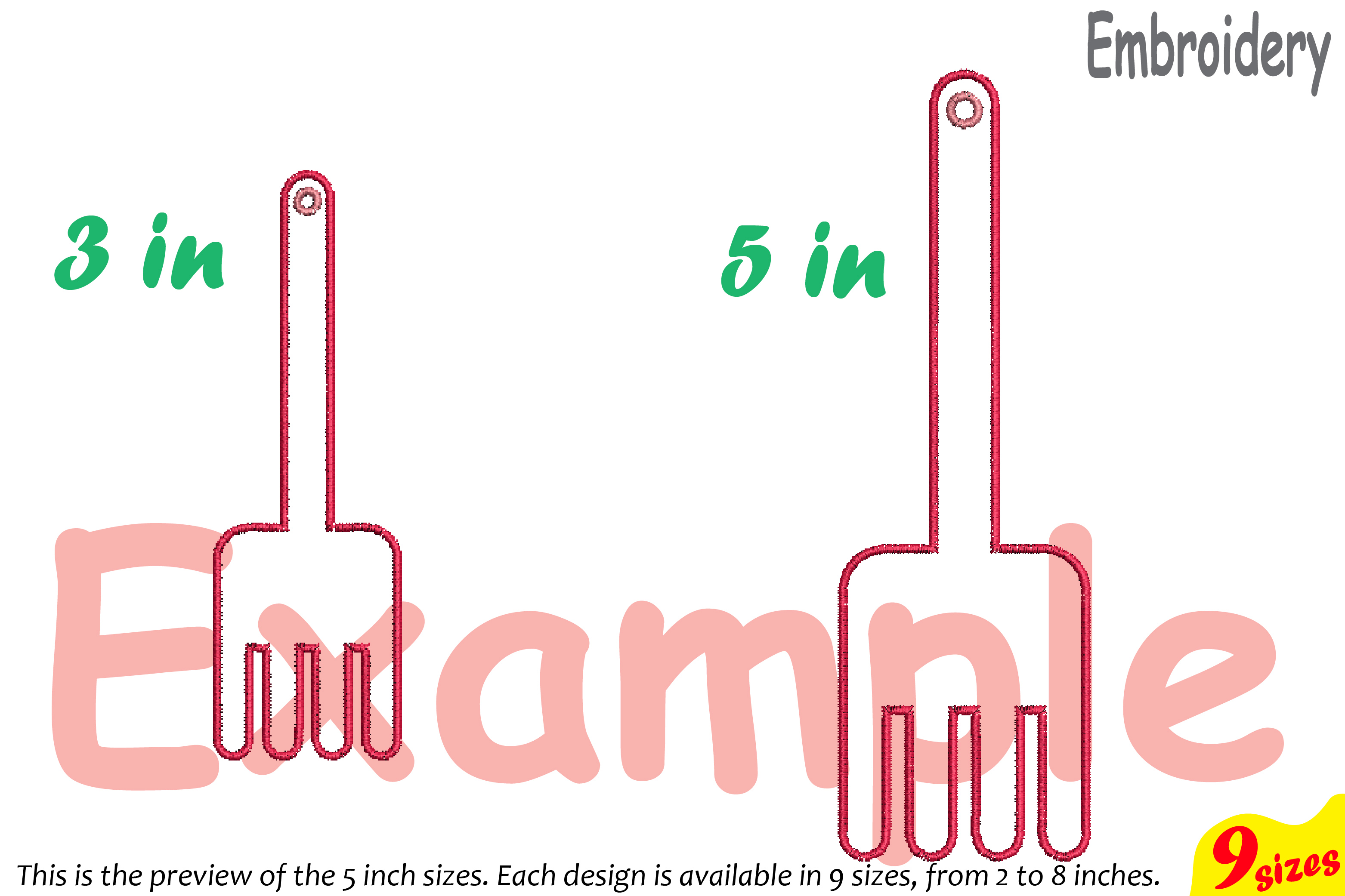 Outline Kitchen Embroidery Design Machine Instant Download Commercial Use digital file icon symbol sign Chef Utensils fork spoon 178b example image 5