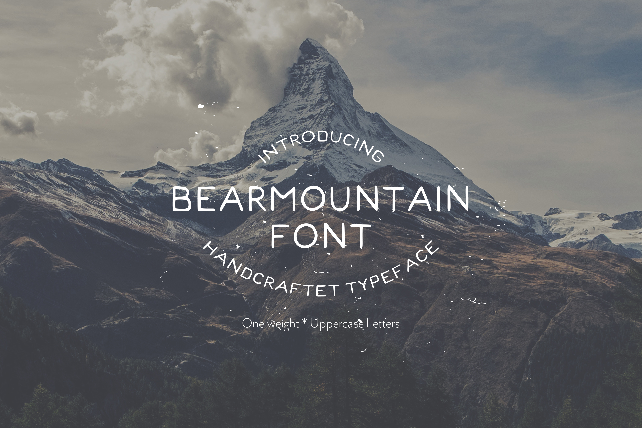 Bearmountain - Handmade Font example image 1