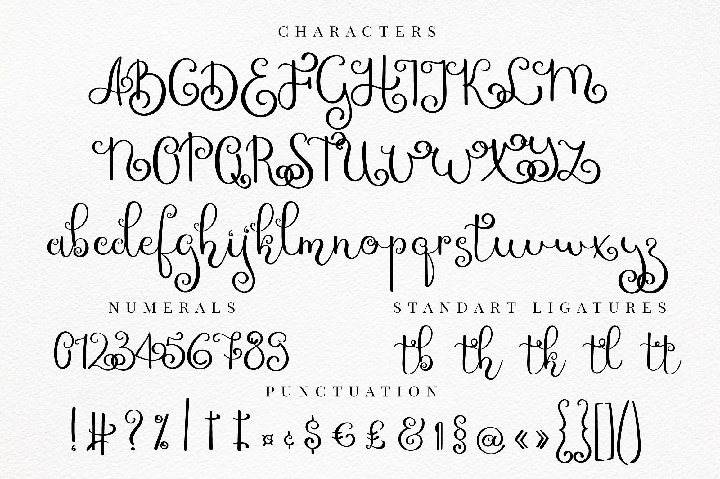 Chiquita - curly script font example image 6