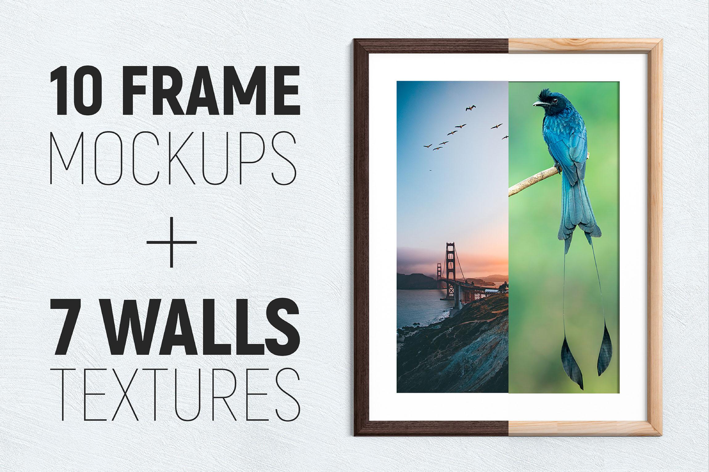 10 Frames & 7 Walls Mockups example image 1
