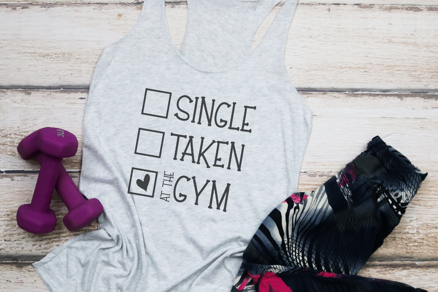 Valentine - Fitness - Single Taken At The Gym SVG example image 1