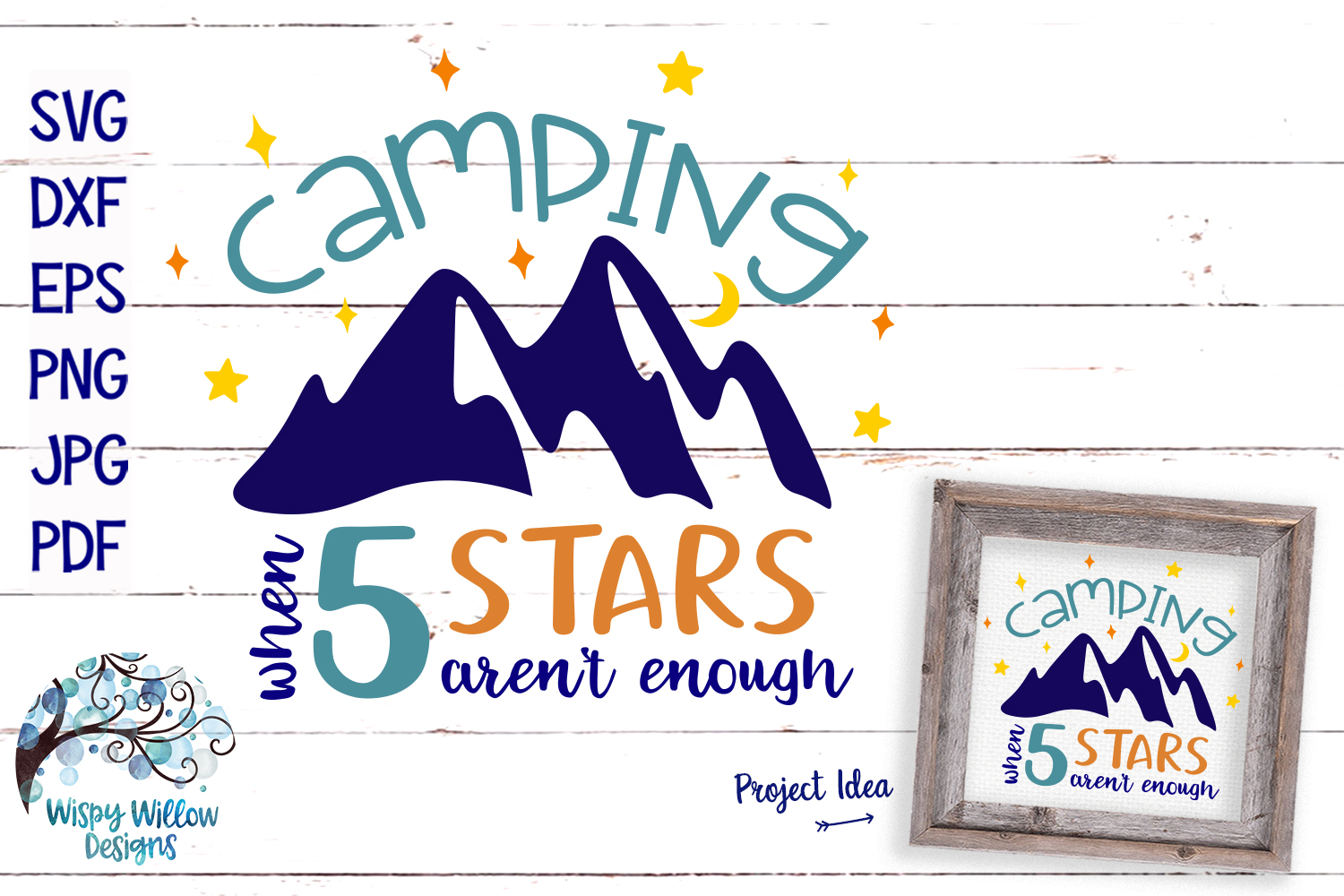 Camping SVG Cut File Bundle | Mountains SVG example image 2