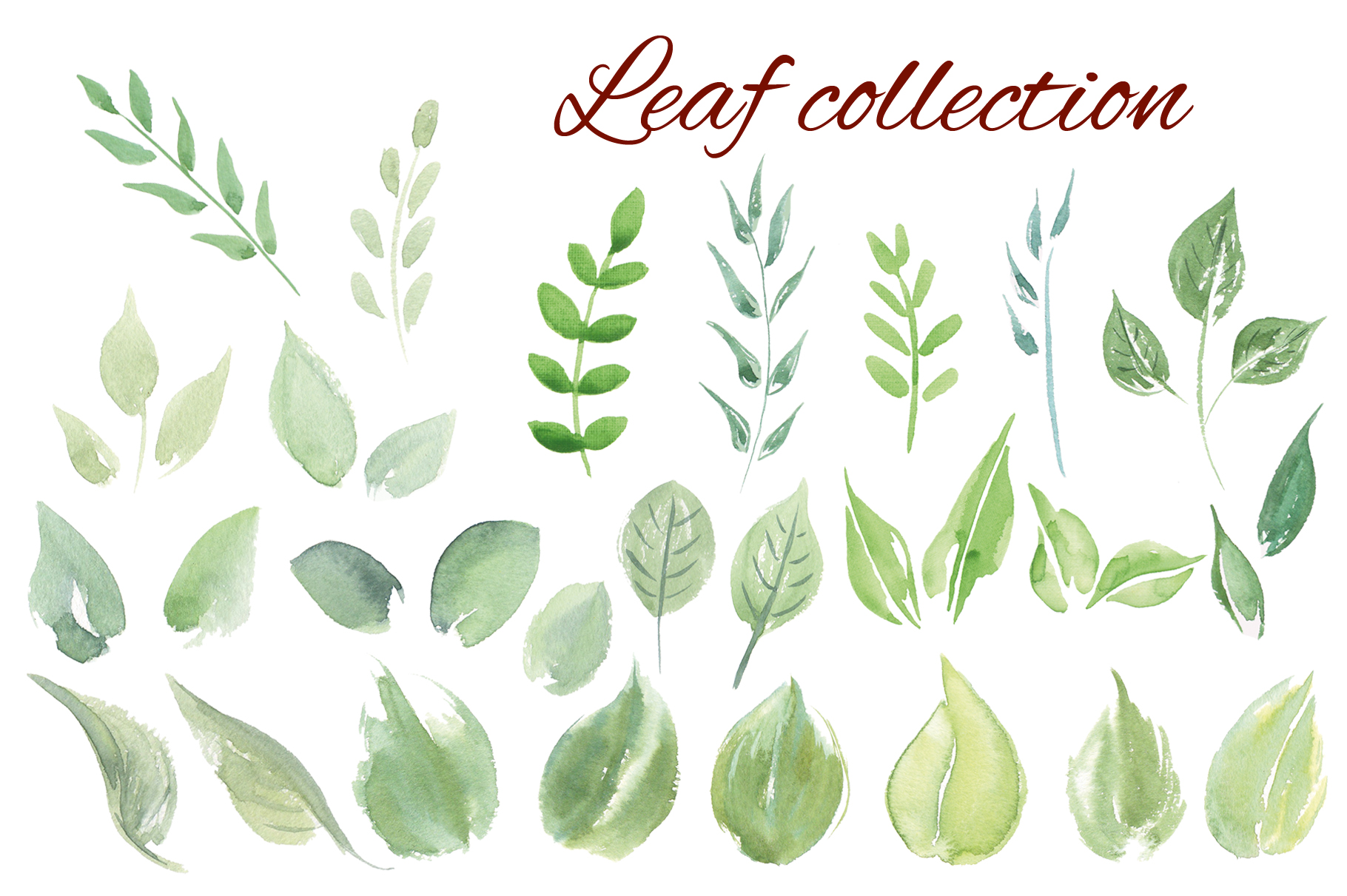 Fruits watercolor collection example image 8