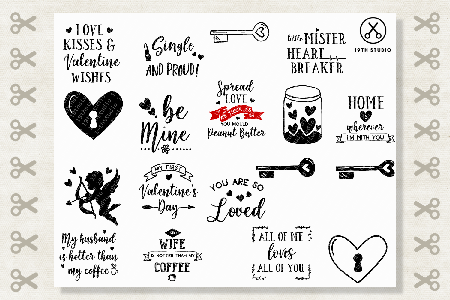 Valentine's Day SVG Bundle - M19B example image 3