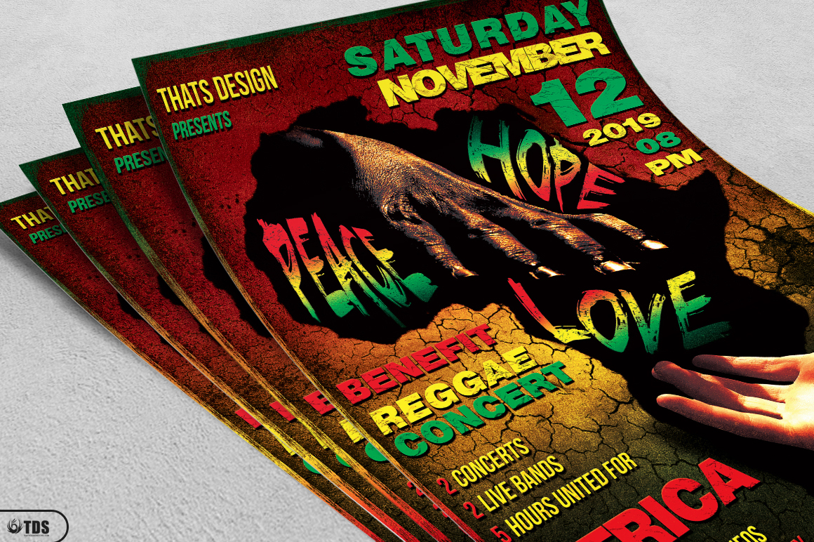 Reggae Africa United Flyer Template  example image 3