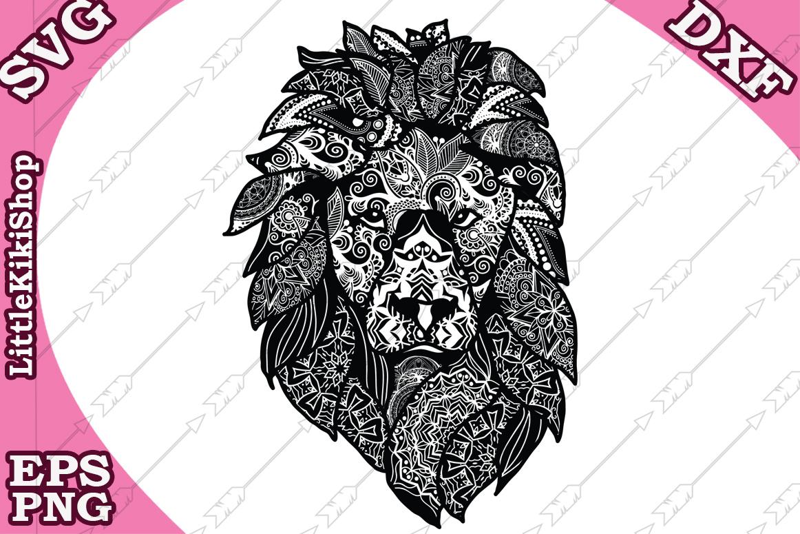 Download Zentangle Svg, Mandala Lion Svg,Zentangle Lion Svg,Animal Sv