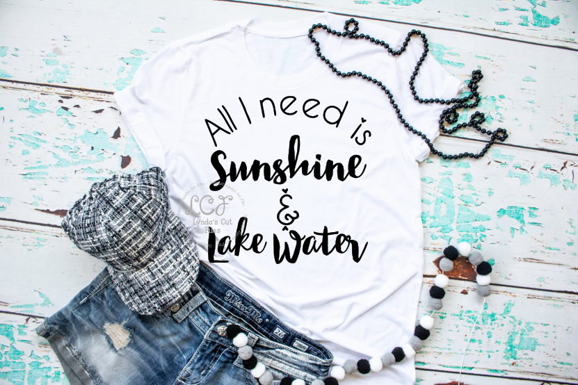 All I need is Sunshine and Lake Water//Summer//SVG//DXF//EPS example image 1